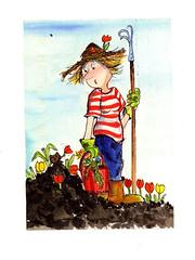 Gardening Postcard from Finland