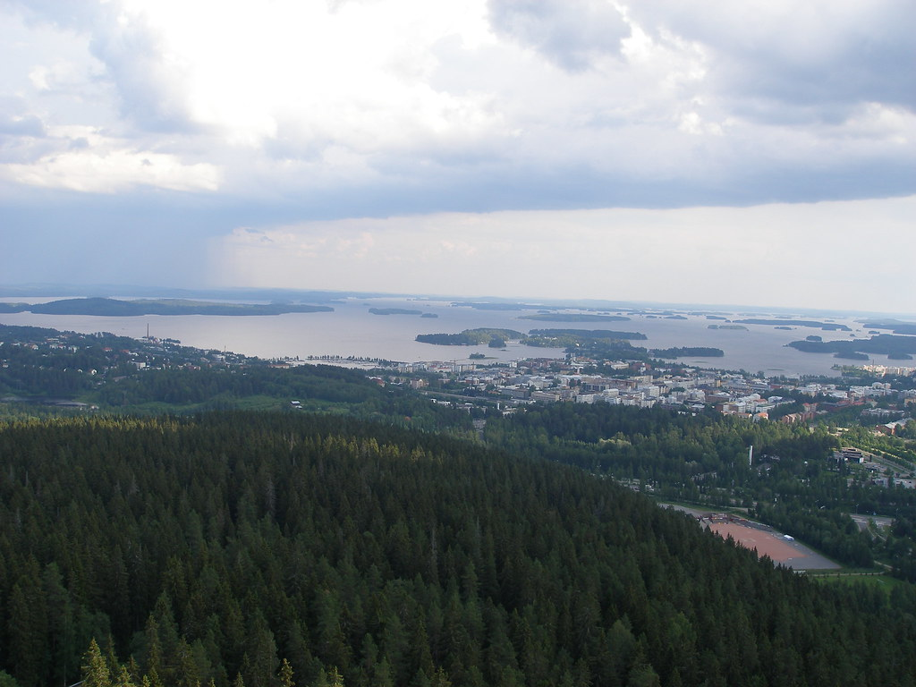 The view from the Puijo Radio Tower, Finland