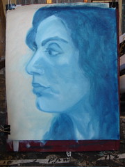 Claudia portrait on canvas 1