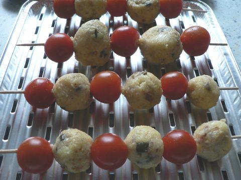 Tomaten-Polenta-Spieße 1
