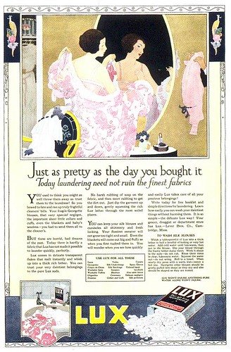 Lux Laundry Soap ad, 1919