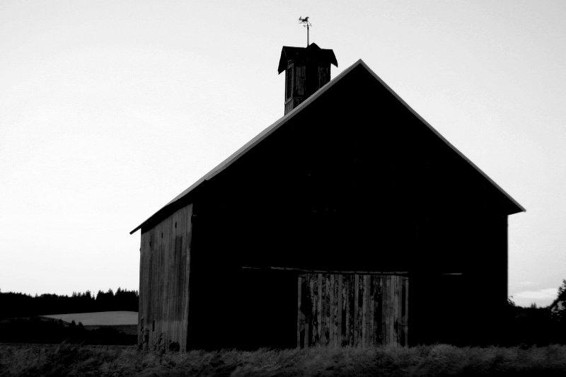 Barn in the Dusk - North Plains