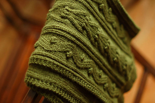 f29d55b72 Source  Scarf Style from Interweave Press Materials  KnitPicks Merino Style  in  Moss  (6 Balls) Needles  US 6 4.25mm Bamboo Clover Circulars Blocking  ...
