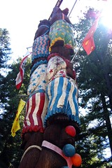 clown bear totem pole