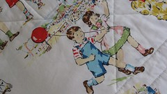 'dick and jane' fabric on the back