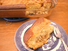 German butter cake, a sweet bread