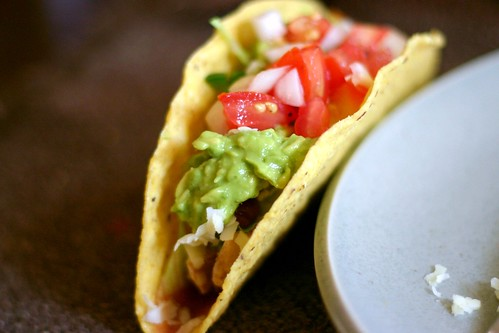 chicken taco with salsa fresca