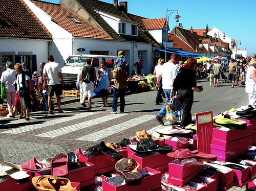 saturday market in Audresselles