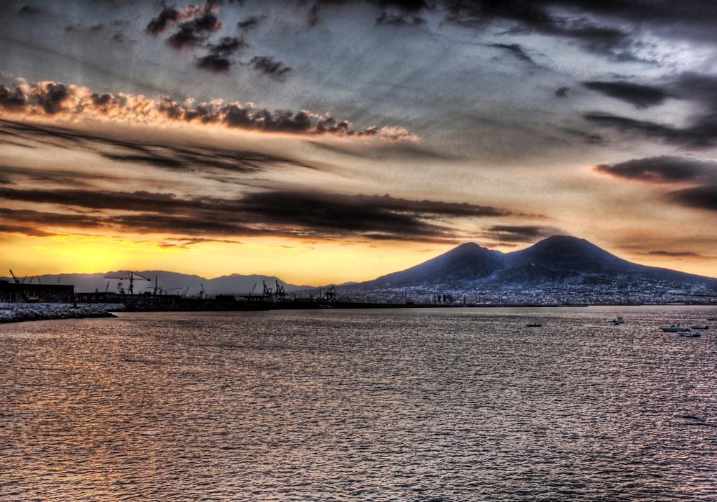 Streaming Morning Light at Vesuvius