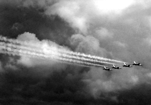Thunderbirds 2004 in B&W