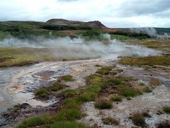 The scene at Geysir