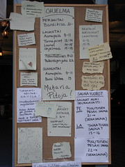 The notice board at the inn