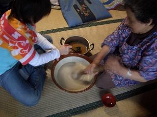 20060504 芋汁作り