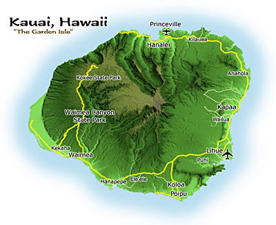 The Hawaiian Island of Kauai