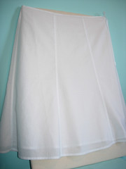Plain white skirt...