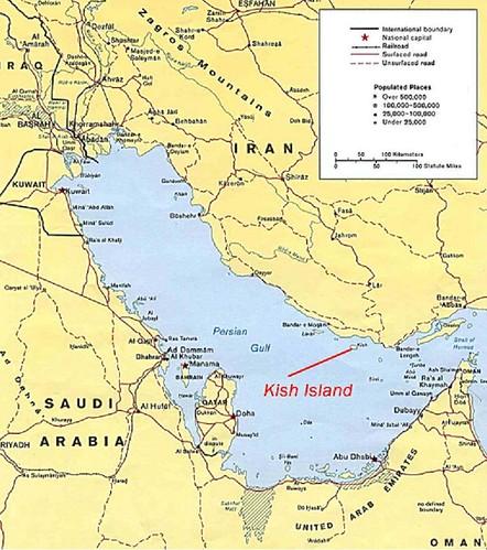 Kish Island map