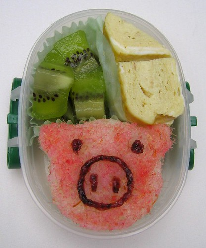 Pig onigiri lunch for toddler