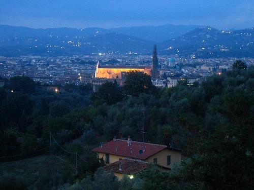 View from Viale Galileo Galilei