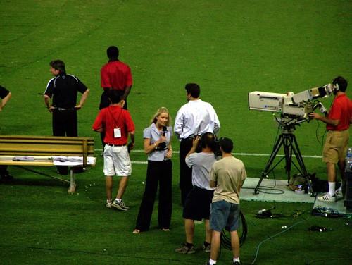 On field reporter