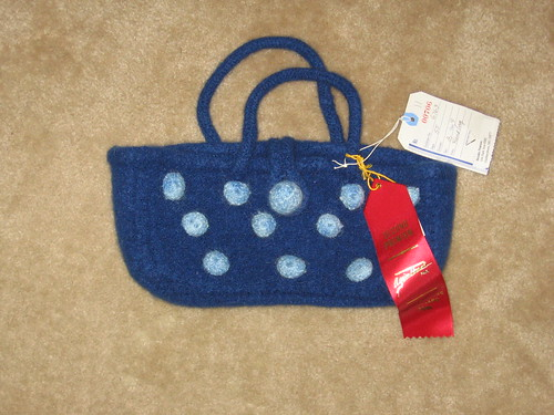 Felted Blue Bag