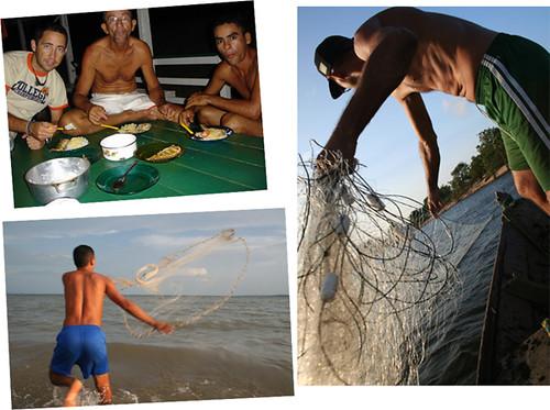 días de pesca con Luiz y Diego
