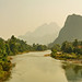 Limestone Mountains and River