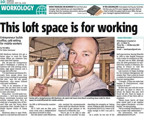 Bill featured in Metro newspaper