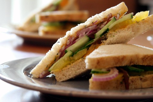 Tomato & Cucumber Sandwich with Anchovy Compound Butter