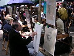 Porträttmålare på Place du Tertre