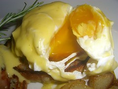 Close Up Egg Benedict