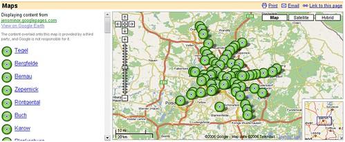 KMZ-Dateien in Google Maps