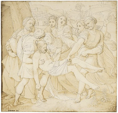 Grabelung Christi Tuschfederzeichnung 1814 28 coma 3 por 29 coma 9 cm