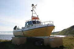 The Old Co-Op boat at Auðkúla