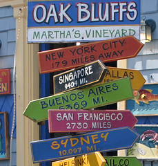 Colorful Signs at Oak Bluffs