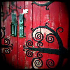 Red Door - Holga photo by jnhkrawczyk