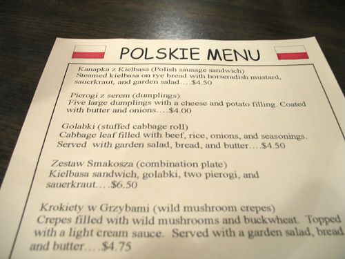 It was Polish Day at the Dash-In!!! I was so frigg'n happy!