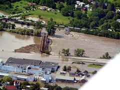 Mohawk River Flooding at the Beechnut Factory in Canajoharie on 06/28/06.