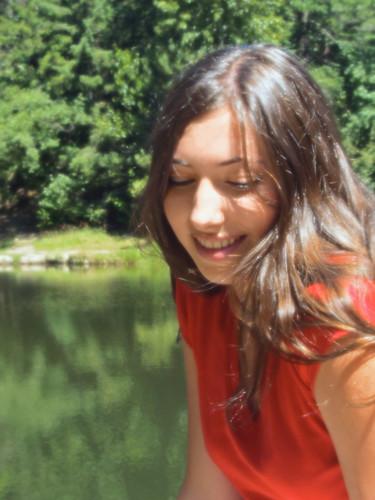 Oralie at the Pond