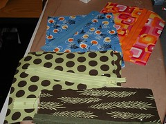 Zipper Pouches in Progress