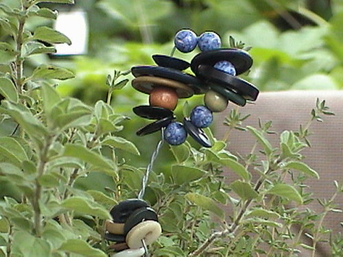 Vintage Button Flowers