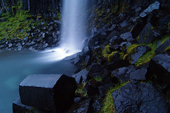 what 3 minutes do to a waterfall in the night..... photo by Snorri Thor