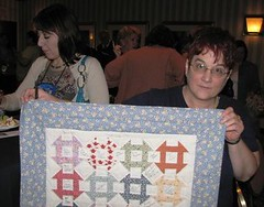 Gin with quilt, Barb behind