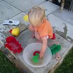 Rinsing my beach toys<br/>14 Jul 2006