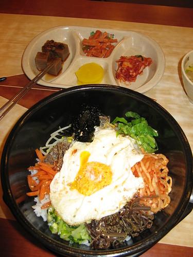 Dinner - Bibinba / よるご飯(石焼きビビンバ)