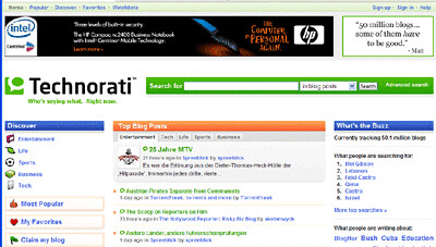 Technorati Redesign