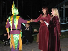 The jester accepting his award