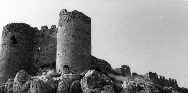 Towers of the castle at Argos