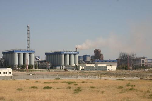 Azeraluminium factory outside Ganca, Western Azerbaijan