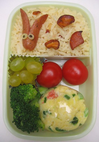 Sausage rabbit lunch お弁当