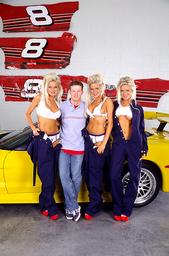 Dale Jr. and Dahm Triplets Dale Jr. and The Dahm Triplets